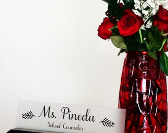 School Counselor Name Plate, professional name plate