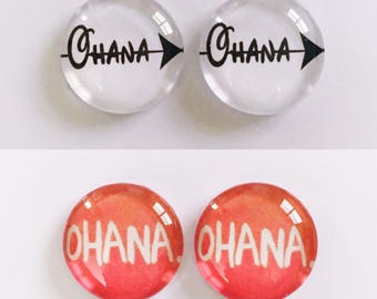 The 'Ohana' Glass Earring Studs