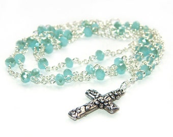 Anglican Rosary Necklace, Christian Woman's Rosary Beads