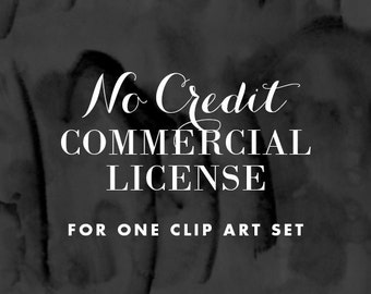 No Credit Extended License for x1 Clip Art Set