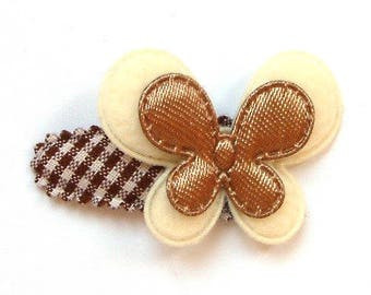 Baby Hair Clip with Big Butterfly on French Vichy