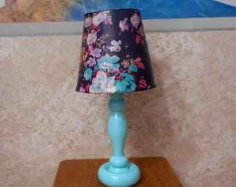 Barbie Turquoise Flower Lamp