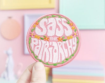 Sass the patriarchy feminist patch
