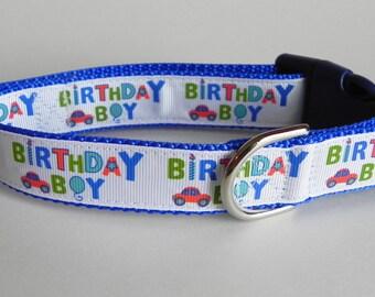 Birthday Boy Dog Collar