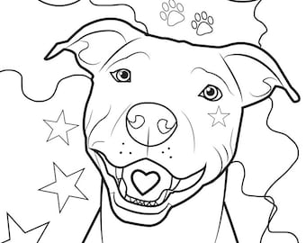 Pitbull coloring page, coloring page,