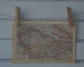 1931 Vintage Czechoslovakia Map