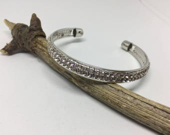 Women Stainless Steel Bridal Bracelet with Rhinestone