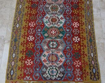 4 by 6 rug, Kilim Rug, Vintage Kilim, Turkish Kilim Rug, Turkish Kilim, Vintage Kilim Rug, Area Rug, Vintage Rug, Boho Rug, Kilim, Floor Rug