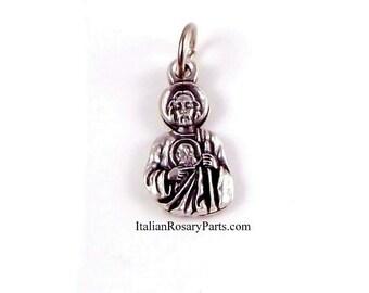 Saint Jude Religious Bracelet Charm Medal | Italian Rosary Parts
