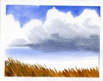 Cloudscape with reeds