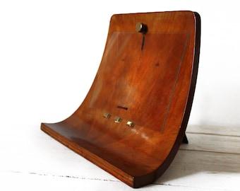 Amazing large CURVED WOOD frame - Modern Eames Era Design