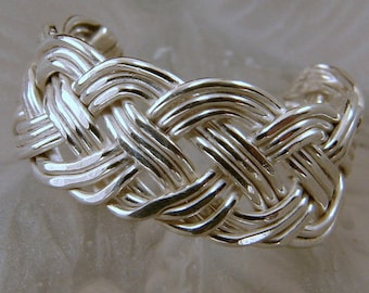 Handwoven Braided Sterling Silver Toe Ring  or Finger Ring - Any Size