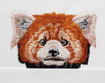 Pocket Red Panda Machine Embroidery Design
