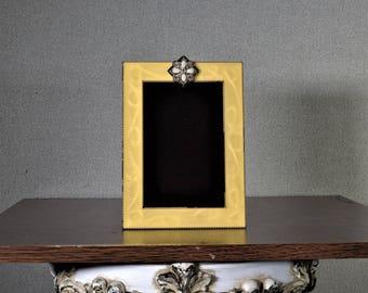 4 x 6 Photo Frame Metal Peach Enamel
