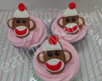 Sock monkey cake Etsy