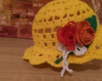 Hat girl, crochet, new, handmade,