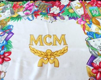 MCM Scarf,MCM Scarves, MCM Bag Patterns, Silk Scarf, made in Italy