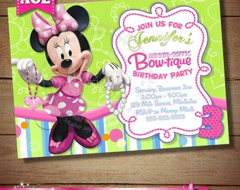 Printable Birthday Stationery Paper ~ Minnie mouse clubhouse invitation mickey minnie daisy donald