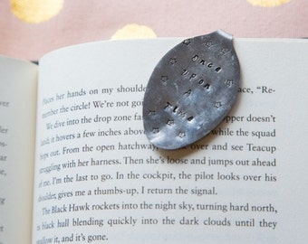 "Hand Stamped Spoon Bookmark- ""Once Upon A Time"""