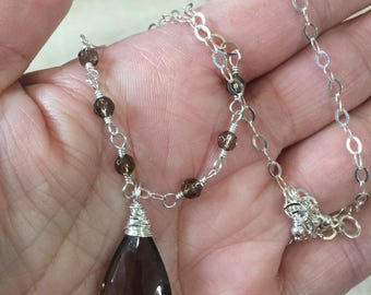 Smokey Quartz Gemstone Necklace  Natures Splendour
