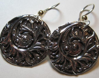 Sterling Silver  Wildly Organic earrings ............     e750