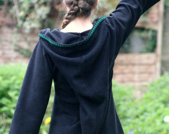 Gothic dress - Festival Elf Dress - Medieval Tunic with Pixie Pointy Hood - Game of Thrones Costume - Link hoodie - PSY hoodie  elven dress