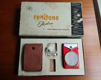 Realtone Electra model TR 801, Realtone Electra Japan, Realtone Electra radio, Realtone radio, Realtone TR 801, AM radio, Realtone 6 radio
