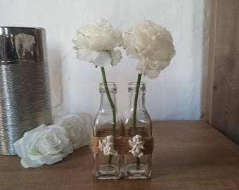Pair of vases and Angel