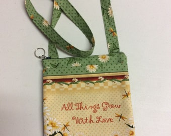 All Things Grow With Love  rossover Tote Bag