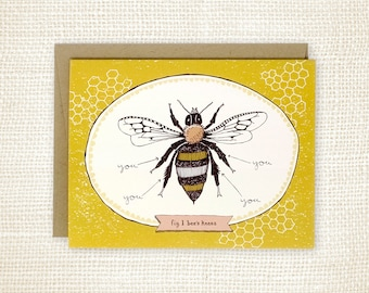 Love Card, Friendship Card, Thank You Card - Bee's Knees