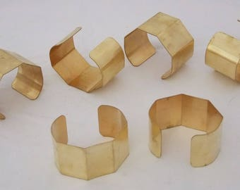 """5 Sided Brass Bracelet Cuff Blanks 1.5"""" For Jewelry Making Package of 6"""