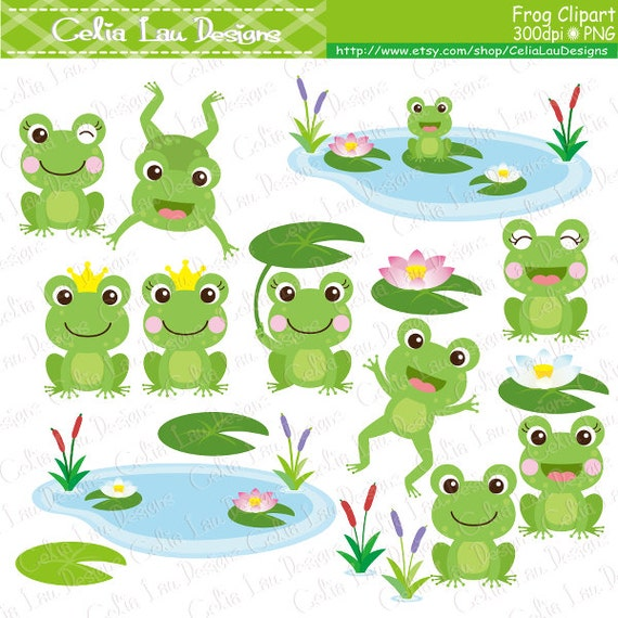 frog clipart frogs clip art lilypads frogs cat tail cute frogs rh etsystudio com clipart frog pencil clip art frog lifecycle