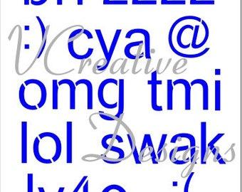 578 Texting A stencil