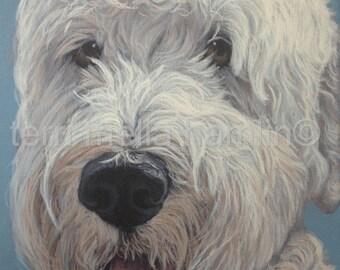 CustomCustomDog Portrait, 9x12, Pet Portrait, Custom Pet Portrait, Painted Pet Portraits, Dog Portrait Custom, Acrylic Painted Portrait