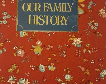 Our family history floral book