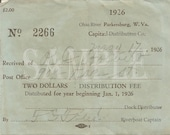 1926 Ohio River Bootlegger Dock Receipt Printable Smuggler Prohibition Era Roaring 20s Style Art Deco Gatsby Party Wedding Bar Front Door