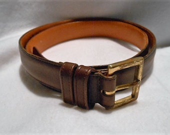 Coach Mocha Full Leather Belt Made In The USA, Size 38, c. 1990