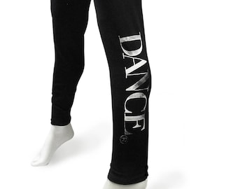 """CLOSE-OUT ***Youth Large***Girls """"Stencil Dance"""" leggings."""