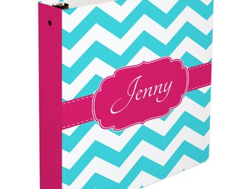 Personalized Binder- Personalized 3 Ring Binder- Monogrammed 3 Ring Binder- Monogram Binder/ Organizer