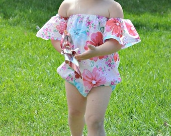 Baby Off-Shoulder Playsuit 0 months through 5t PDF downloadable