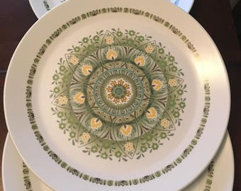 Vintage Noritake Set of 4 Palos Verde Dinner Plates - Progression - 9020 - Japan