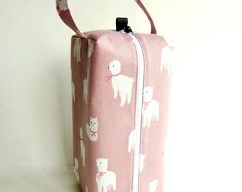 Bigger Boxy Bag Knitting Project Bag - Alpaca