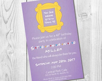 FRIENDS TV Show Party Invitation