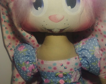 Handmade doll bunny rabbit doll ragdoll plush toy