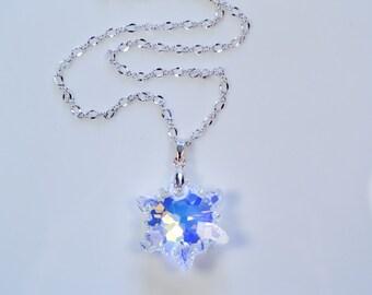 Swarovski Crystal Edelweiss Pendant Necklace