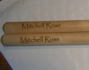 13 pair of Personalized laser engraved 2B drumsticks shipped Priority from 3DCarving