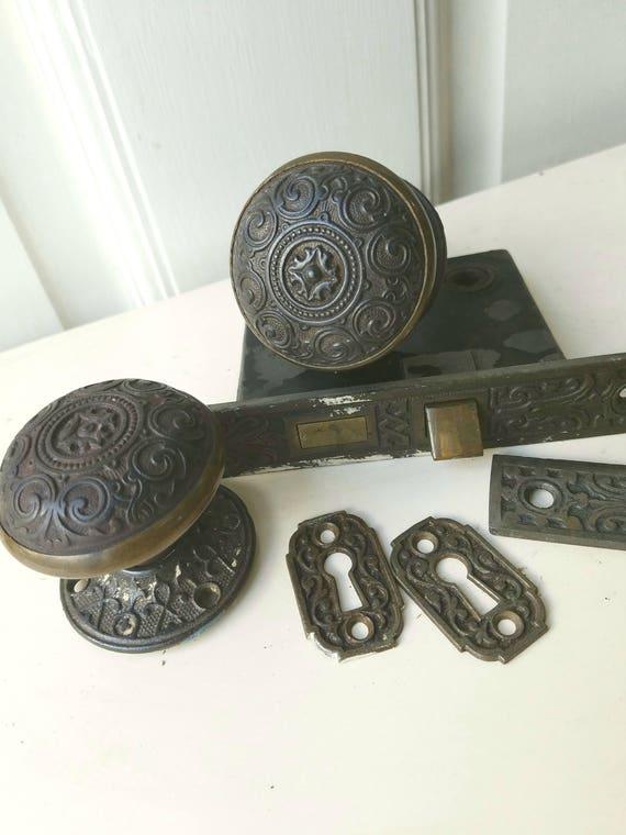Eastlake Doorknobs Complete Set Corbin Lock Set Eastlake
