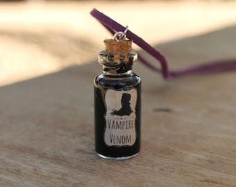 Vampire Venom Necklace, Vampire Necklace, Bottle Necklace, Cork Bottle, Mythical, Magical, Vampires, Vampyre, Blood, Venom