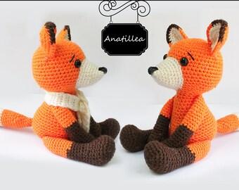 PATTERN :  Fox - Amigurumi fox pattern - Crochet pattern-Knitted Stuffed animals- wild animals-doll-toy-baby shower