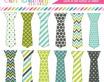 Tie Clipart Graphics Lime Green Blue Charcoal Gray Little Man Tie Digital Clip Art Personal Commercial Use Instant Download